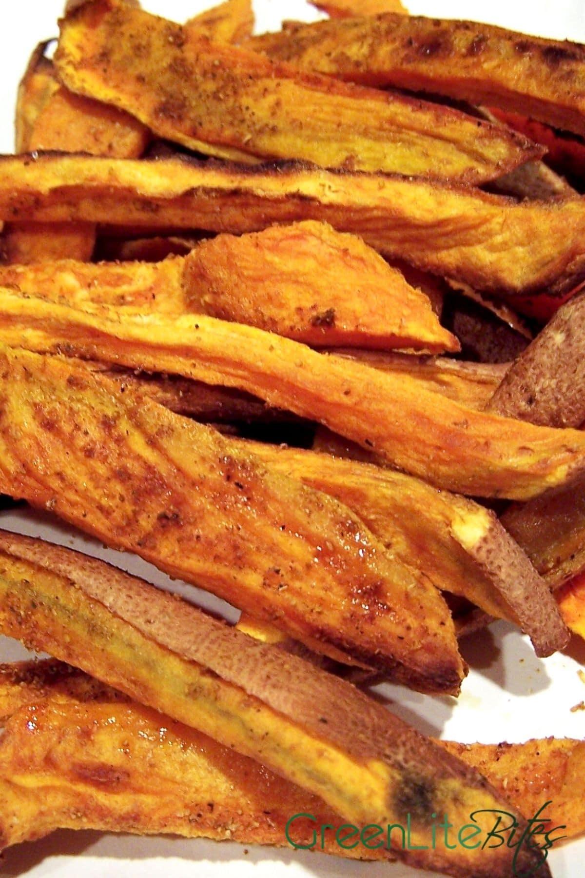 Swet potato fries on plate
