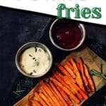 Fries on platter