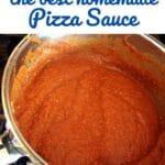 Pot of pizza sauce