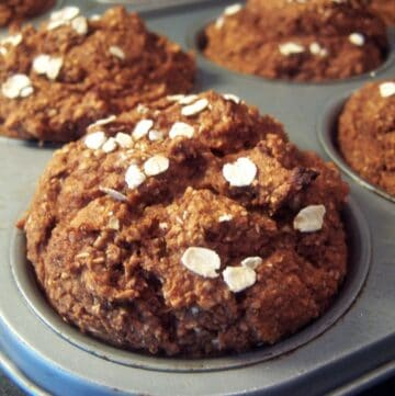 Pumpkin bran flake in muffin pan