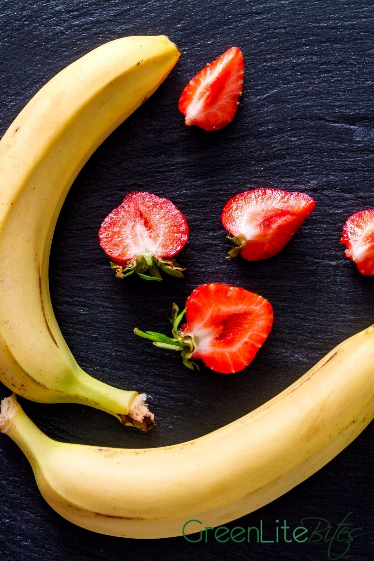 Strawberries and bananas on board