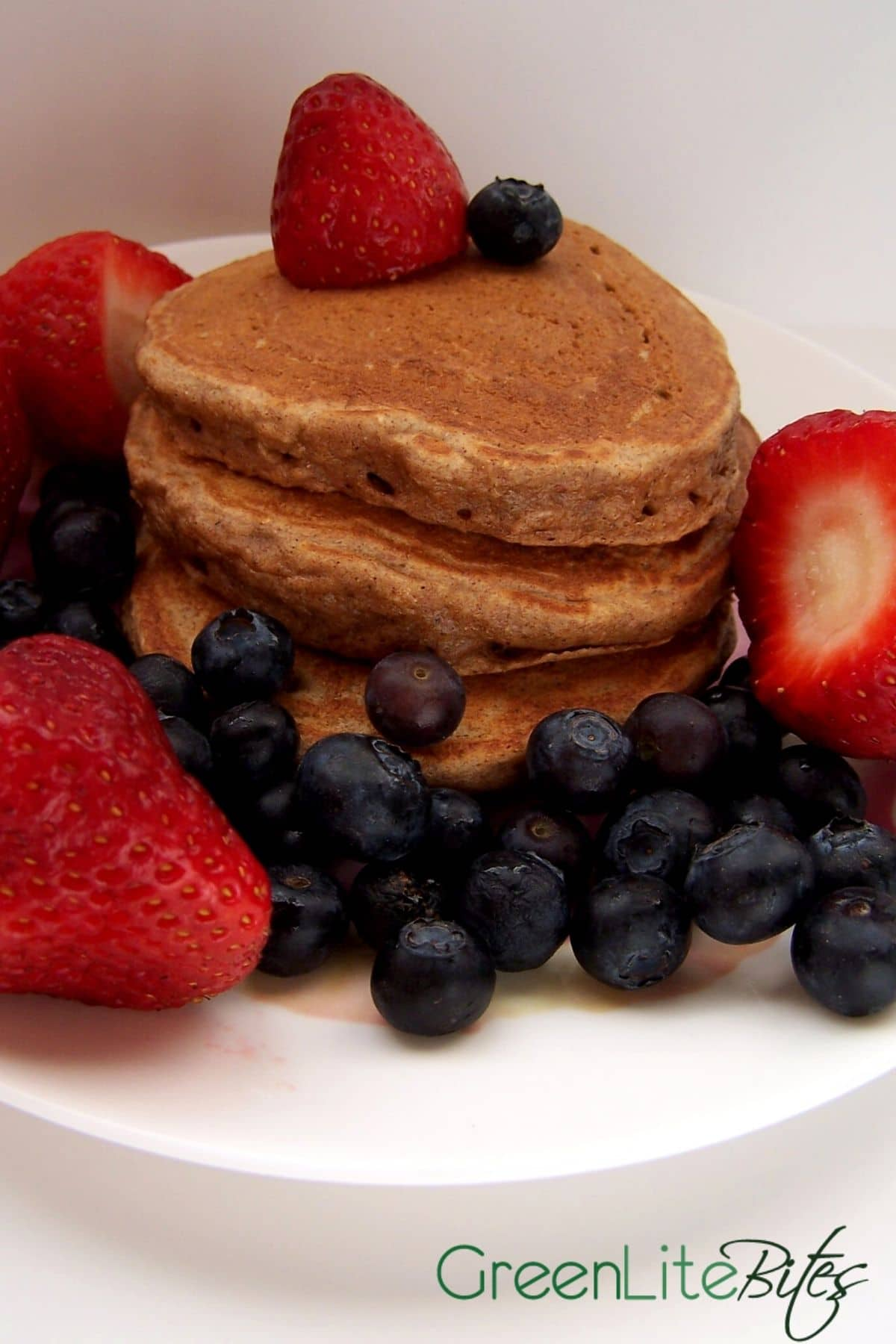 Stack of whole wheat pancakes
