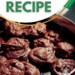 Chocolate meringue cookies in tin