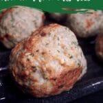 Homemade turkey meatballs on broiler pan