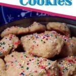 Ricotta cookies in tin