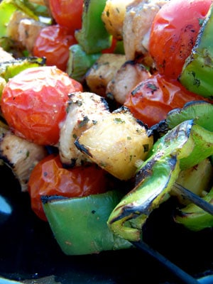 Kabobs On The Grill. :~P Quick Kabobs