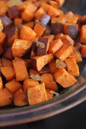 Ginger sweet potatotes salad recipe