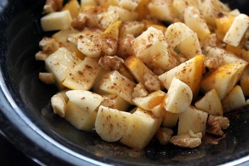 Quick Apple Walnut Cheese Salad - Top
