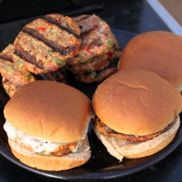 Finished Turkey Burgers