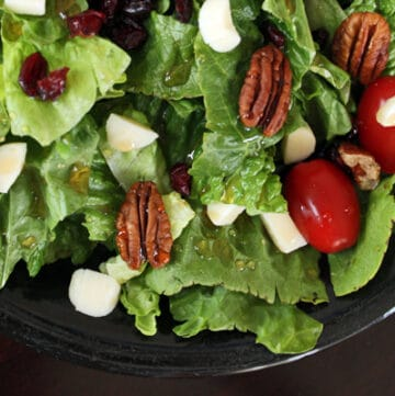 Maple Salad with Gouda, Pecans and Dried Cranberries