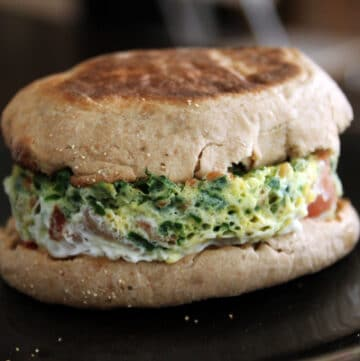 Egg MugMuffin with Spinach, Ham and Bacon - Done