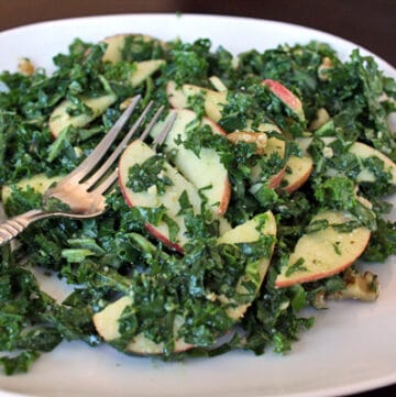 Apple Kale Salad with Maple Walnut Dressing