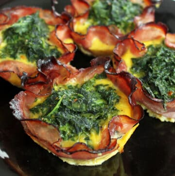 Plate of Spicy Kale Egg Muffins