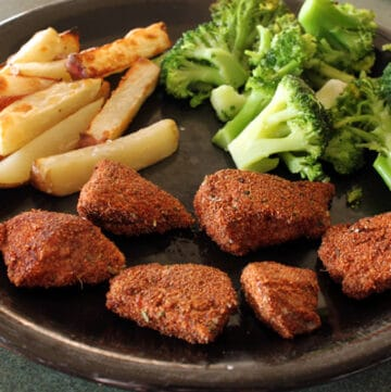 teff nugget dinner plate