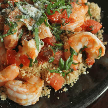 Simple Skillet Shrimp - done