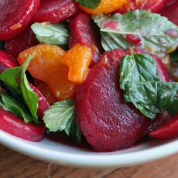 Minted Mandarin Orange and Beet Salad - Close Up