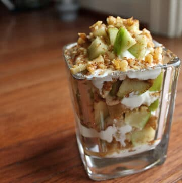 Finished Apple and Walnut Yogurt Parfait