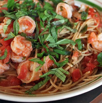 Simple Shrimp Spaghetti Finished