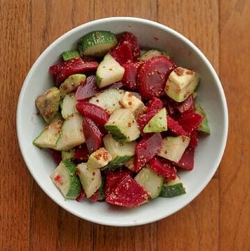 Chopped Avocado Cucumber and Beet salad Full Bowl