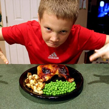 Teaching Kids How to Cook: Sweet Chicken Legs with Potatoes and Peas