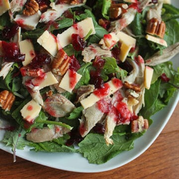 Turkey, Pecan and Gouda Salad dressed with Cranberry Sauce