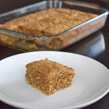 Slice of Banana Flax Breakfast Cake