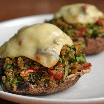 finished Quinoa-Topped Portobello