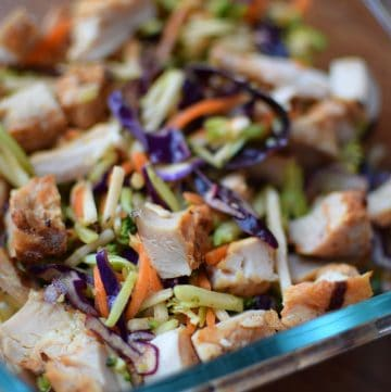 Rainbow Salad with Chicken and Maple Cayenne Vinaigrette Portrait