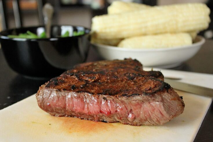 Dry Rubbed Pan-Fried London Broil - Side View