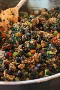 Kale, Turkey and Black Bean Taco Filling Portrait