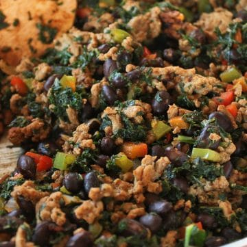 Kale, Turkey and Black Bean Taco Filling Portrait