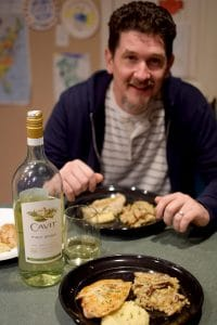 Grilled Grouper with Parsnip Puree and Shiitake Mushroom Risotto - portrait