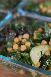 Kale, Cucumber and Chickpea Salad - portrait