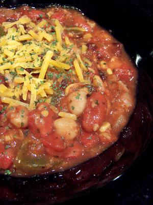 Easy Slow Cooker Vegetarian Chili