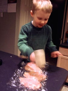 Naked Chicken Parm Idea - Thin chicken mallot