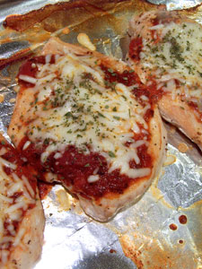 Naked Chicken Parm Idea - after bake