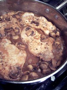 Pork Chops with Simple Mushroom Gravy before 2