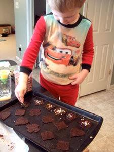 Chocolate Cookie Crisps  - sprinkling