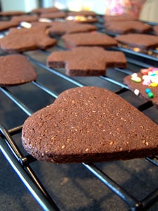 """Chocolate Cookie Crisps  - the other """"design"""""""