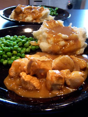 Simple Chicken Tips with Gravy