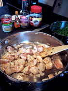Simple Chicken Tips with Gravy - prep 1