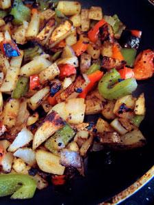 Simple Homemade Home Fries in pan
