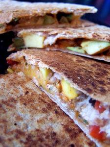 Quick Avocado Quesadilla  - close up