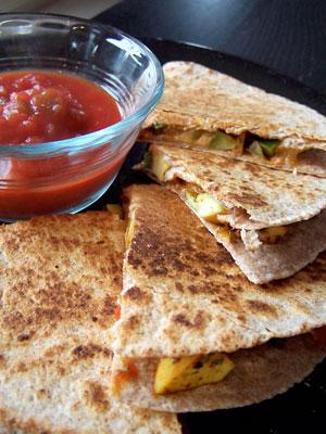 Quick Avocado Quesadilla