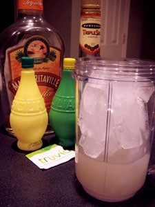 Frozen Margarita-ish Cocktail - before