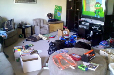 My disaster zone - packing for the move