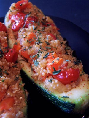 Back to Basics Quinoa Stuffed Zucchini