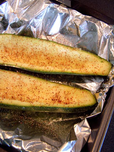Stuffed Zucchini - before