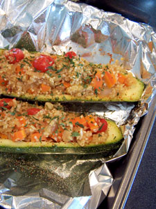 Stuffed Zucchini - after