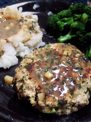 Garden Turkey Steaks with a Simple Gravy